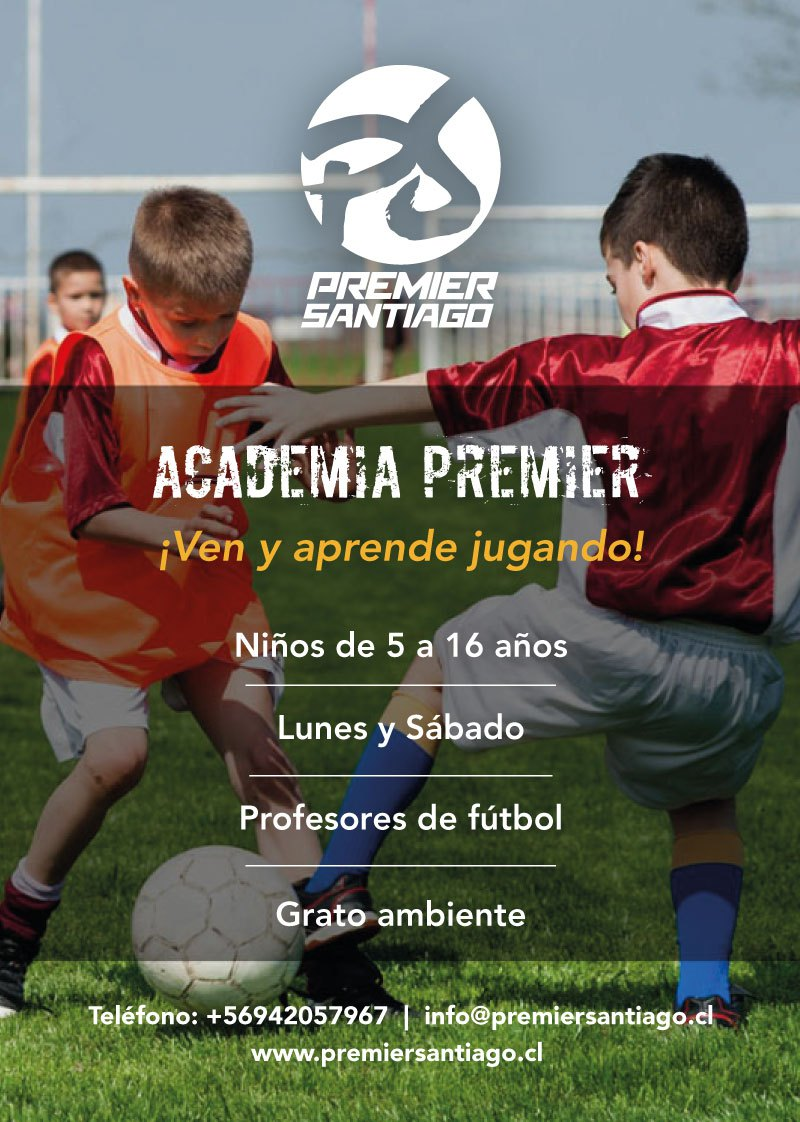Flyer Liga Premier Santiago