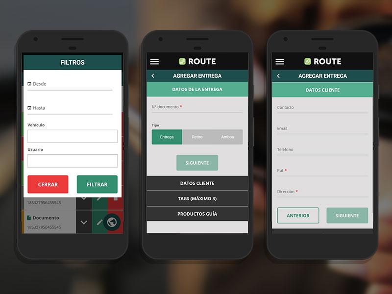 Route plataforma web móvil
