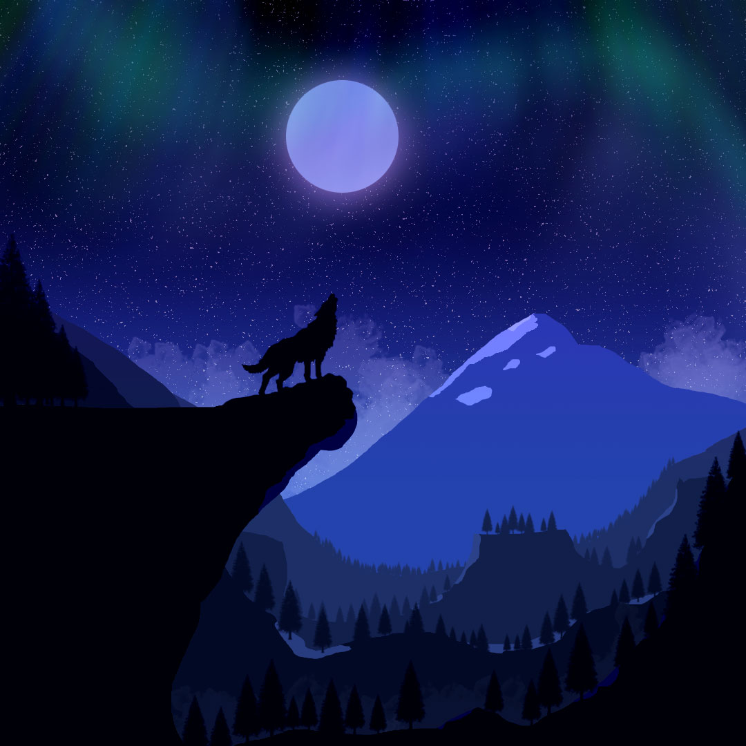 Ilustración Howling under the lights